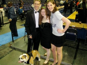 Jack in his tuxedo and a few friends at the New Year's Eve 2009 basketball game